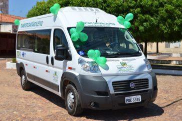 Foto do veículo de transporte sanitário eletivo.